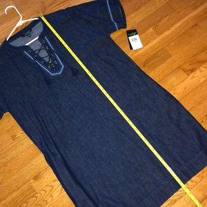 Lauren Ralph Lauren Dresses - NWT Lauren by Ralph Lauren indigo denim dress